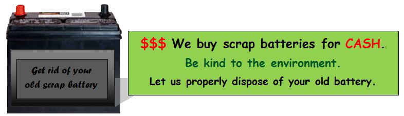 We buy scrap batteries for cash